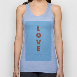Love is all - typography Unisex Tank Top
