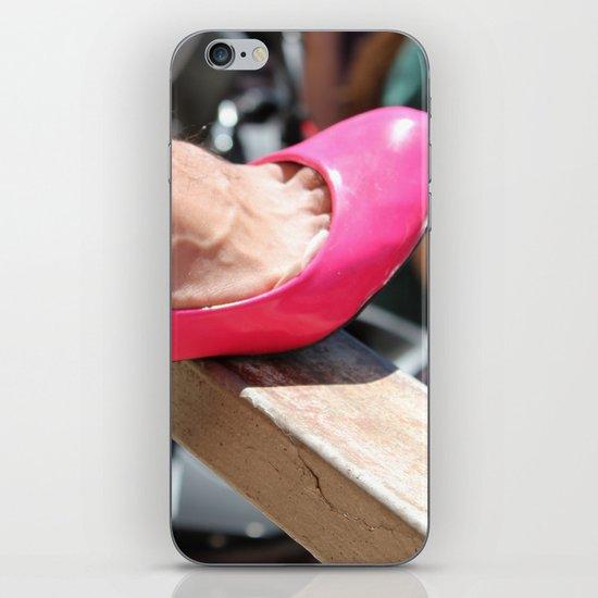 pink shoe iPhone & iPod Skin