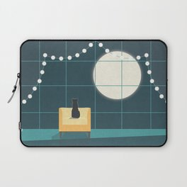 Cat and the Moon Laptop Sleeve