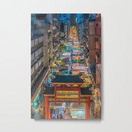 night market Metal Print