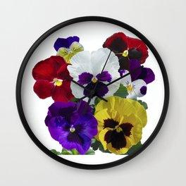 Pansies! Wall Clock