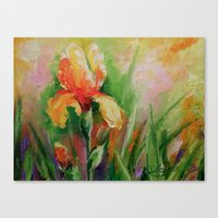 iris Canvas Prints featuring Iris by OLHADARCHUK