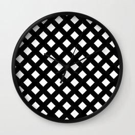 Black and White Lattice Wall Clock