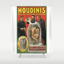 Houdini, vintage poster Shower Curtain