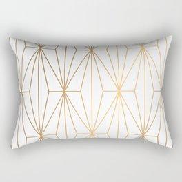 Gold Geometric Pattern Illustration Rectangular Pillow