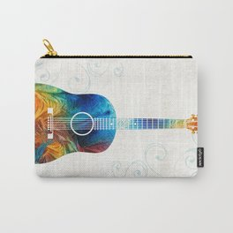 Colorful Guitar Art by Sharon Cummings Carry-All Pouch