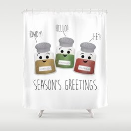 Season's Greetings | Garlic, Oregano & Paprika Shower Curtain