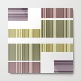 An abstract geometric pattern . Alex 7. Metal Print