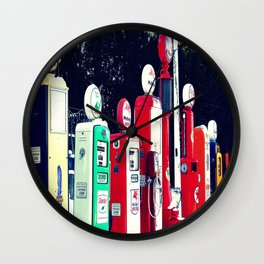 Vintage Gas Station Wall Clock