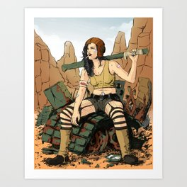 I Love My Clothes Art Print
