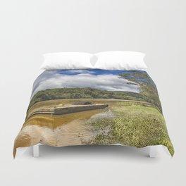 Pontoon on the Barron River Duvet Cover