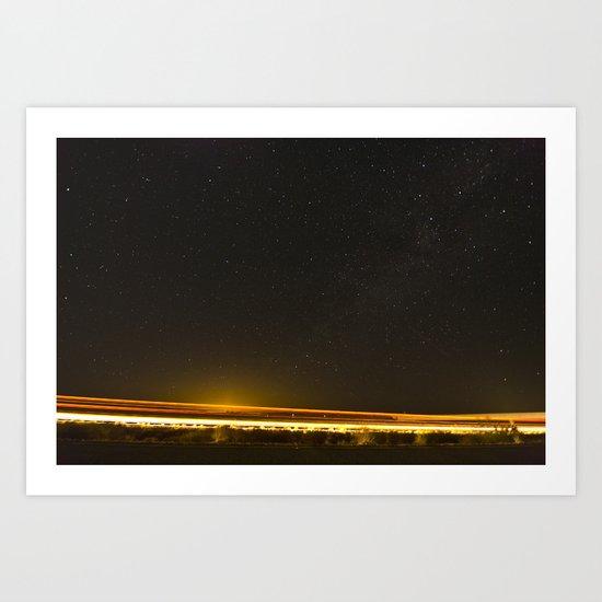 Light Trails Art Print