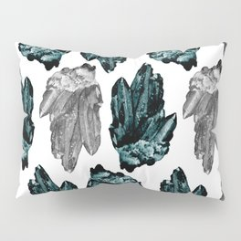 turquoise and grey crystal pattern Pillow Sham