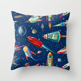 rockets in traffic Throw Pillow