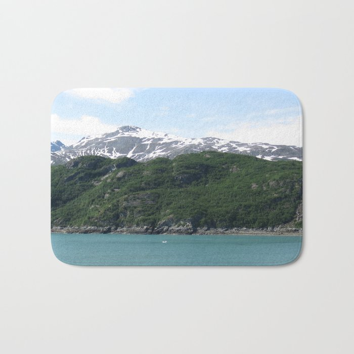Contrasting Mountains Bath Mat