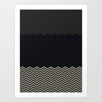 chevron Art Prints featuring Chevron by Georgiana Paraschiv