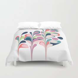 Colorful Abstract Floral Design Duvet Cover