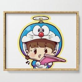 Doraemon chibi cosplay Serving Tray