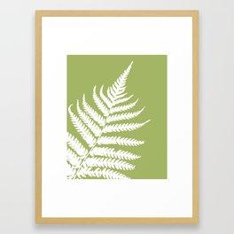 Fern in Woodland Green - Original Floral Botanical Papercut Design Framed Art Print