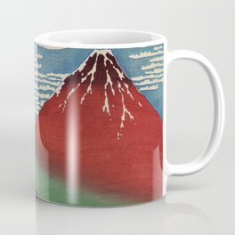 Fine Wind, Clear Morning by Katsushika Hokusai (1760-1849), meaning Shower below a summit, a traditi Coffee Mug