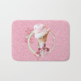 Pink Sugar Icecream Cone Bath Mat