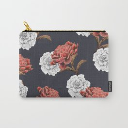 red and white floral pattern Carry-All Pouch