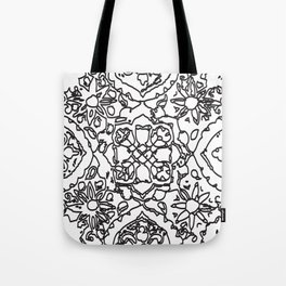 Isola Signature Print Monocrome  Tote Bag