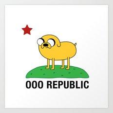 Ooo Republic Art Print