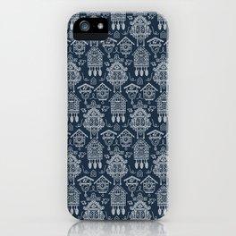 Cuckoo Clocks on Blue iPhone Case