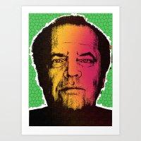 jack nicholson Art Prints featuring Jack Nicholson by RDotA Grapfiks