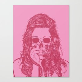Skull Girl 1 Canvas Print
