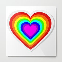 Lbgt rainbow heart Metal Print