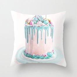 @theflourgirl_ Ice Drip Cake   Throw Pillow