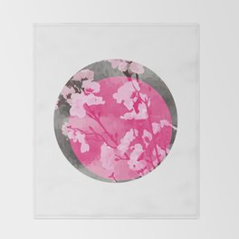 Vietnam Peach Blossom Hoa Dao Tet Holiday Throw Blanket