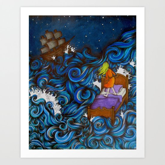Dreaming By the Sea Art Print