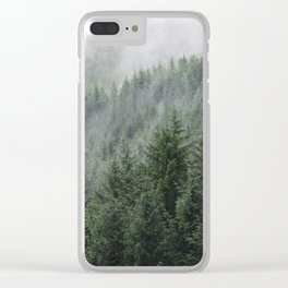 Fog Forest Clear iPhone Case
