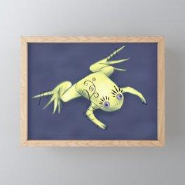 Funny Frog With Fancy Eyelashes Digital Art Framed Mini Art Print