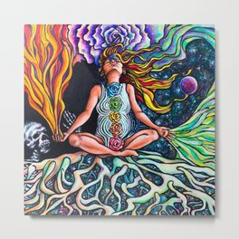 Goddess Rising Metal Print