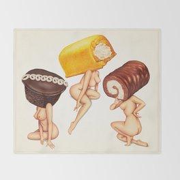 Hostess Cake Girls Throw Blanket