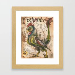 Cockatrice from the Field Guide to Dragons Framed Art Print