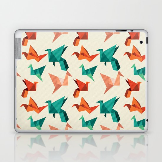 teal paper cranes Laptop & iPad Skin