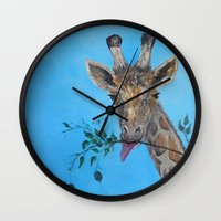 vegan Wall Clocks featuring VEGAN by RokinRonda