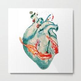 Koi heart Metal Print