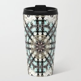 Vintage Distressed Mandala Design with hearts Travel Mug