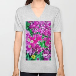 The beauty of the violet. Unisex V-Neck