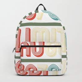 August Cool Vintage Retro Birthday Gift For Your Wife And Husband For Their 40th Birthday Natal Day Backpack