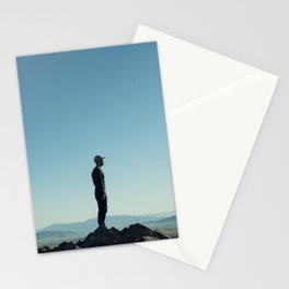 Alone in the blue summit Stationery Cards