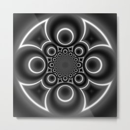 Swords and Circles Metal Print
