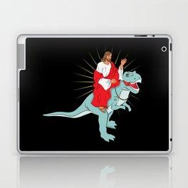 Jesus Riding A Dinosaurs Rex Gift Laptop & iPad Skin
