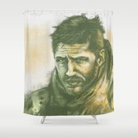 "mad max Shower Curtains featuring Mad Max by Barbara ""Yuhime"" Wyrowińska"